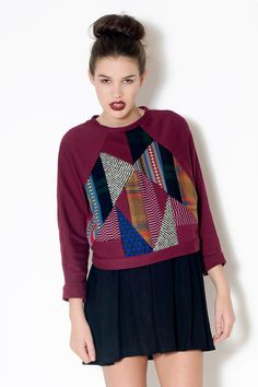Patchwork Sweater. £40.00, via Etsy.