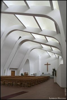 Alvar Aalto, Architect...Riola Parish Church, Riola, Italy.