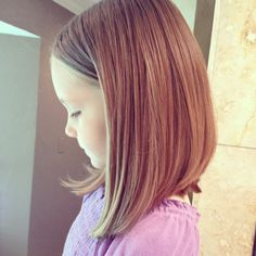 Idea for little girls' haircut. Too cute!