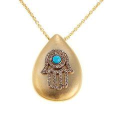 "Rarities Fine Jewelry with Carol Brodie Rarities: Fine Jewelry with Carol Brodie Gold-Plated 18"" Pendant Necklace - Choice of Talisman"