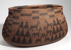 Africa | Basket from Lealui, Barotseland. Possibly the Lozi or Barotse culture of Zambia | Plant fiber, wood and dye | ca. 1907