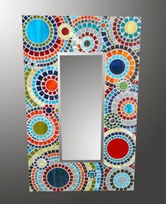 Bright Spiral Mosaic Mirror by olveradesign on Etsy Mirror Mosaic, Mosaic Art, Mosaic Glass, Mosaic Tiles, Glass Art, Mosaics, Mirror Mirror, Sea Glass, Stained Glass
