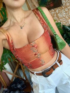 Cute Casual Outfits, Pretty Outfits, Summer Outfits, Looks Style, My Style, Look Fashion, Fashion Outfits, 70s Fashion, Corset Outfit