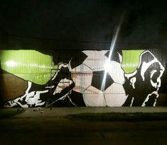 Mural 25x8m pintado a mano con pincel en la localidad de San Pedro, provincia de Buenos Aires Be Nice, Buenos Aires, Hipster Stuff