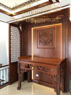 Altar Design, Door Design, My Home Design, House Design, Laser Cut Screens, Modern Kitchen Design, Creative Home, Wall Shelves, Buddhism