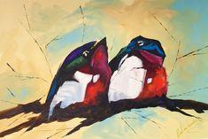 Love Birds - G107_1.2mX1m Love Birds, New Art, Wildlife, Painting, Painting Art, Paintings, Painted Canvas, Drawings