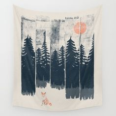 Buy A Fox in the Wild... Wall Tapestry by NDTank. Worldwide shipping available at Society6.com. Just one of millions of high quality products available.