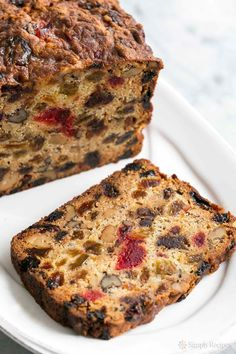Fabulous holiday fruitcake! With dates, raisins, walnuts, glazed cherries, and orange zest. Perfect for Christmas celebrations.