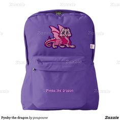 Pynky the dragon backpack