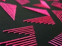 Pink stripe alphabet by Nina Greiger