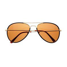 High Fashion Leather Wrapped Metal Aviator Sunglasses Shades A1200
