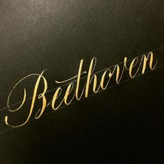 Beethoven  #lettering #calligraphy #handlettering #customlettering #goodtype #typespire #thedailytype #handtype #handmadefont #calligritype #typegang #art #design #drawing #handdrawn #handwritten #letters #handwritinglicious #brush #handmade #beethoven #gold #レタリング #カリグラフィー #アート #デザイン #書 #音楽 #ベートーベン #金