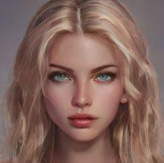 Digital Art Girl, Digital Portrait, Portrait Art, Girl Face, Woman Face, Character Portraits, Character Art, Beautiful Fantasy Art, Character Aesthetic