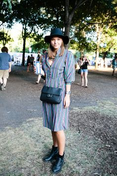 Stine used her connections as a flight attendant to come to Lolla, apparently to teach us all a lesson on how to truly rock the vertical stripe.