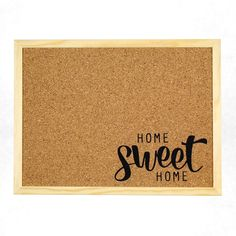 These lovely crafted and designed pinboard fits as a beautiful decoration in every home. The cork pinboard is also great as a gift for a new home or other special occasions. Sweet Home, Home Quotes And Sayings, Moving House, Black Letter, New Home Gifts, Accent Decor, New Homes, Messages, Lettering
