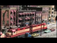 Street Running (In HO Scale on The City Edge Layout) 16x9  awesome detail