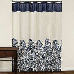 jcpenney Emery Shower Curtain - home decor / bath / (shades of blue on an ivory background shower curtains)