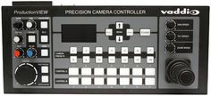 Vaddio ProductionVIEW Precision Camera Controller The Precision Camera Controller boasts a broadcast-quality joystick designed for smooth and accurate pan, tilt and zoom control, as well as CCU image control functionality for controlling up to seven