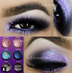Stunning look using the BH cosmetics Galaxy Chic palette