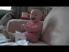 Baby Laughing histrionically
