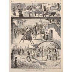 """Obiceiuri ale sașilor din Transilvania, pagină publicată în """"Cartea pentru toți"""", aprox. 1880"""