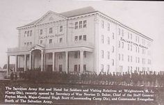 Historic Images of Burlington County NJ USA - Wrightstown The Salvation Army Hotel in 1919