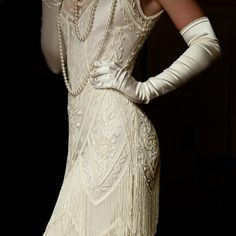 photo. Look at all the handwork, this dress/gown is beautiful. It looks old and new to me. TFS La Bonne Vie.