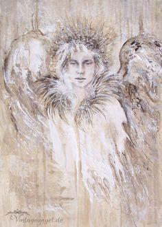 Engel Shushienae ღ Engel des Friedens ღ Angel Art, Acryl auf Leinwand