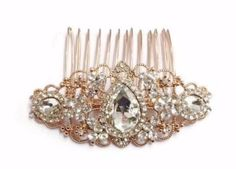 Beautiful-Vintage-Style-Full-Crystal-Rose-Gold-Bridal-Hair-Comb