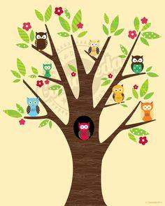 Owl print for nursery
