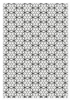 Galerie de coloriages gratuits coloriage-difficile-zen-symetrie. Coloriage s'inspirant des fractales (motifs répétés de plus en plus petits, mais identiques). A vos feutres !