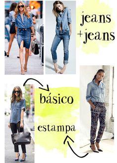 Como usar camisa jeans. Looks com camisa jeans. Denim shirt ootd. Usando jeans com jeans