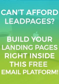 For a blogger on a budget, Leadpages can seem like a necessity but way too expensive. Landing pages are essential for high-converting webinars, ebooks, and courses so why not create them for free? Look no further than MailerLite for amazing and easy to use landing pages plus other webforms and FREE automation! #aff