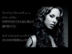 洋楽 和訳 Alicia Keys - If I ain't got you - YouTube