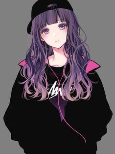 to all anime lovers Cool Anime Girl, Pretty Anime Girl, Beautiful Anime Girl, Kawaii Anime Girl, So Kawaii, Cute Manga Girl, Cute Anime Pics, Art Anime, Chica Anime Manga