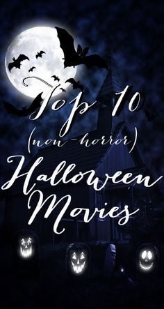 Looking for Halloween movies that aren't gory? These top 10 Halloween flicks are sure to get you in a spooky mood, with no nightmares afterwards. Top 10 Halloween Movies, 31 Days Of Halloween, Halloween Season, Halloween Horror, Holidays Halloween, Happy Halloween, Halloween Party, Halloween Ideas, Easy Thanksgiving Crafts