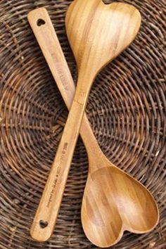 Heart Shaped Wooden Spoon