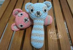 Sonajero Crochet Amigurumi Patron gratis rattle free pattern ....Google translate