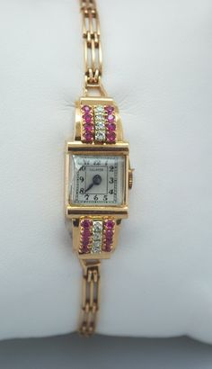 Gold and diamond Galmor Antique watch