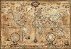 Pergament Map - Wall Mural & Photo Wallpaper - Photowall