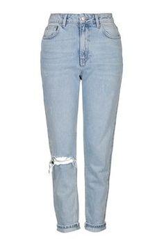 TOPSHOP MOTO Bleach Rip Mom Jeans £42.00