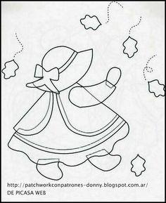 carton mousse - Page 4 Hand Applique, Hand Embroidery Patterns, Quilt Patterns Free, Applique Patterns, Applique Quilts, Embroidery Stitches, Machine Embroidery, Patchwork Patterns, Sunbonnet Sue