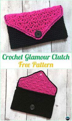 Crochet Glamour Clutch Free Pattern - Crochet Clutch Bag