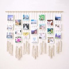 Learn how to make your own macrame photo wall hanging on the blog today >> #parabopress #diyblog #macramewallhanging