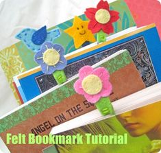 Felt Bookmarks {Tutorial} – Back-to-School - A sweet little project! EverythingEtsy.com #backtoschool #bookmark