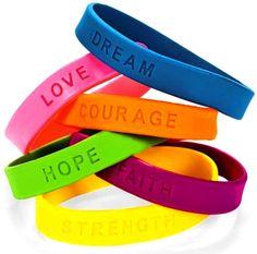 Rainbow colors ❖de l'arc-en-ciel❖❶Toni Kami Colorful quotes bracelets
