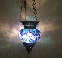 Moroccan lantern mosaic hanging lamp glass chandelier light lampen candle  062  #Handmade #Moroccan
