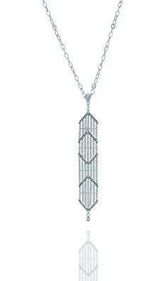Forget Me Not #pendant in 18kt white #gold with a touch of black rhodium, white #diamonds by #CASATO.