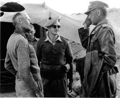 General Bernard Montgomery meets the captive German General Wilhelm von Thoma, El Alamein, Egypt, 1942 Bernard Montgomery, North African Campaign, Afrika Korps, Man Of War, German Army, British Army, British Tanks, Military History, World War Two