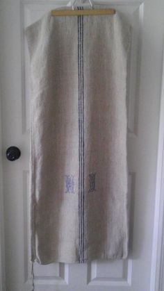 Antique Flax Linen Grain Sack Monogramed by WesternReserve on Etsy, $49.00